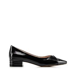 Туфли из лакированной кожи с V-образным вырезом, черный, 92-D-953-1-35, Фотография 1