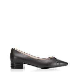 Туфли из матовой кожи с заостренным носком, черный, 92-D-954-1-37, Фотография 1