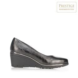 Туфли-лодочки металлик на платформе, черный, 92-D-657-1-41, Фотография 1