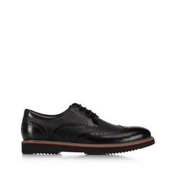 Мужские кожаные полуботинки, черный, 91-M-902-1-42, Фотография 1