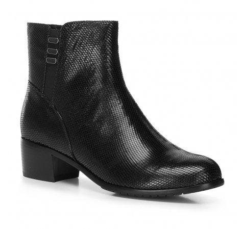 Ботинки из замши с металлическим блеском, черный, 91-D-950-1-40, Фотография 1