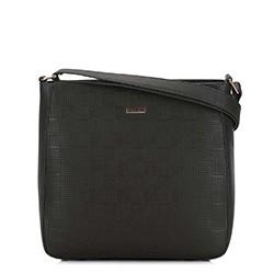Женская  трапециевидная сумка через плечо, черный, 29-4Y-005-1E, Фотография 1