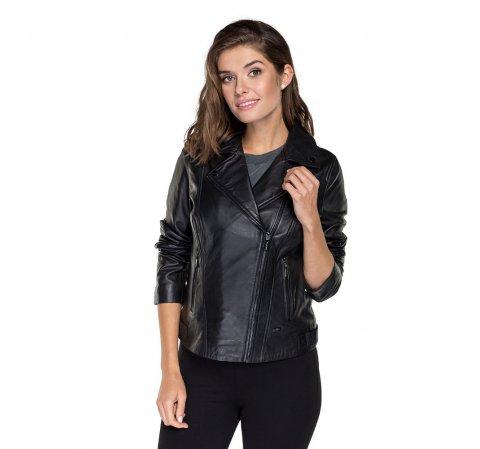 Женская куртка из овчины, черный, 91-09-600-7-XS, Фотография 1