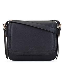 Женская кожаная сумка через плечо saddle bag, черный, 92-4E-202-1, Фотография 1
