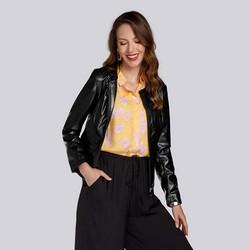 Женская куртка из экокожи простая, черный, 93-9P-111-1-2XL, Фотография 1