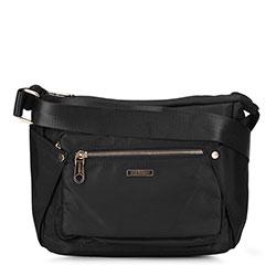 Женская нейлоновая сумка через плечо, черный, 92-4Y-102-1, Фотография 1