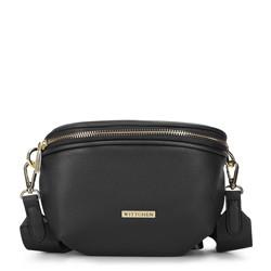 Женская полукруглая сумка на пояс, черный, 93-4Y-911-1, Фотография 1