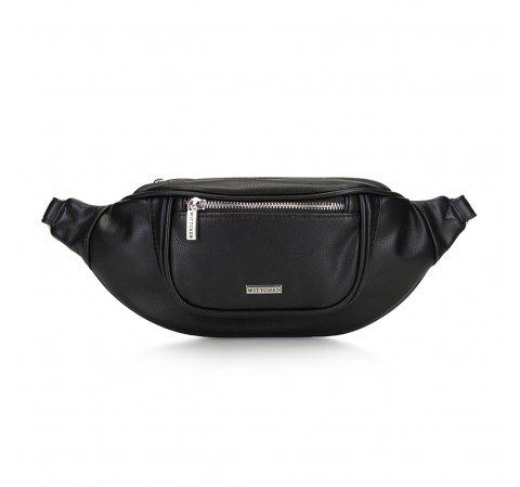 Женская сумка на пояс с широким фронтом, черный, 91-4Y-307-1M, Фотография 1