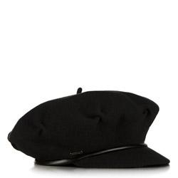 Женская шерстяная кепка с козырьком, черный, 91-HF-100-1, Фотография 1