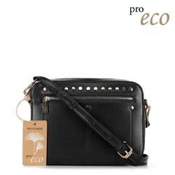 Женская сумка через плечо из экокожи, черный, 91-4Y-252-1, Фотография 1