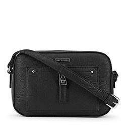 Женская сумка через плечо на тонком ремешке, черный, 91-4Y-401-1, Фотография 1