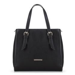Женская сумка-саквояж с карманами, черный, 91-4Y-701-1, Фотография 1
