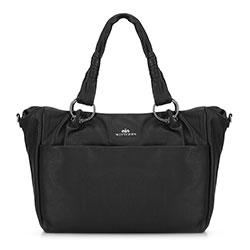 Сумка кожаная сумка с карманом, черный, 91-4E-313-1, Фотография 1