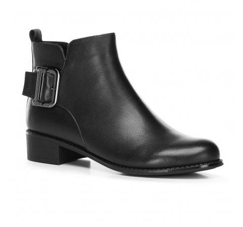 Женские ботинки с пряжкой, черный, 91-D-954-7-41, Фотография 1