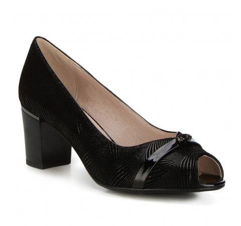Женские туфли-лодочки, черный, 88-D-965-1-35, Фотография 1