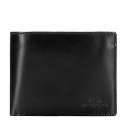Женский кошелек из кожи без застежки, черный, 26-1-040-1, Фотография 1