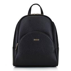 Женский рюкзак с закругленными линиями, черно-золотой, 29-4Y-008-1, Фотография 1