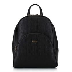 Женский рюкзак с закругленными линиями, черный, 29-4Y-008-1E, Фотография 1
