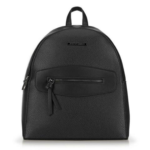 Женский рюкзак с декоративной вставкой, черный, 92-4Y-203-8, Фотография 1