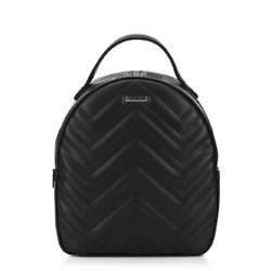 Женский рюкзак с зигзагообразной строчкой, черный, 92-4Y-602-1, Фотография 1