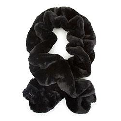 Женский шарф из искусственного меха, черный, 93-7F-001-1, Фотография 1