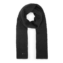 Женский шарф в ромбы, черный, 93-7F-002-1, Фотография 1