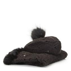 Женский зимний ажурный комплект, черный, 91-SF-001-1, Фотография 1