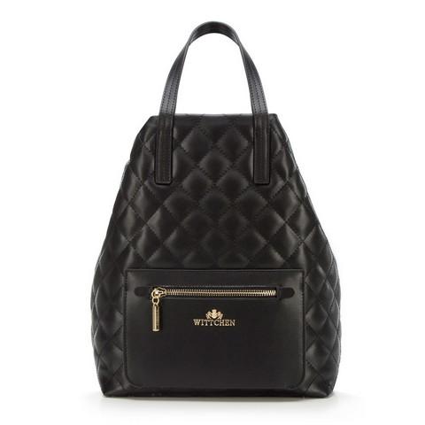 Женский стеганый рюкзак, черный, 92-4E-616-P, Фотография 1