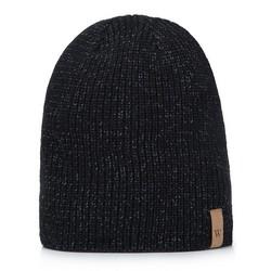 Мужская шапка со светоотражательными волокнами, черный, 93-HF-015-1, Фотография 1