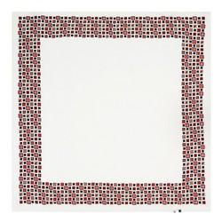Frauenhalstuch, creme-rot, 89-7D-S14-X3, Bild 1