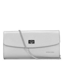Dámská kabelka, stříbrno-černá, 92-4E-661-S, Obrázek 1