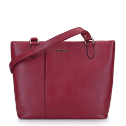 Сумка-шоппер со складкой, дар красный, 93-4Y-207-3, Фотография 1