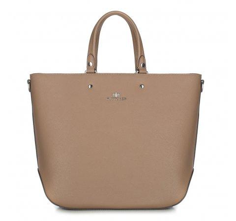 Shopper-Tasche, dunkelbeige, 87-4E-413-9, Bild 1