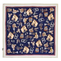 Frauenhalstuch, dunkelblau-beige, 89-7D-S14-X24, Bild 1