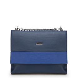 Schultertasche, dunkelblau-blau, 87-4Y-566-7N, Bild 1