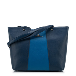 Shopper-Tasche, dunkelblau-blau, 88-4E-208-7, Bild 1
