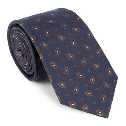 Krawatte, dunkelblau-braun, 88-7K-001-X4, Bild 1