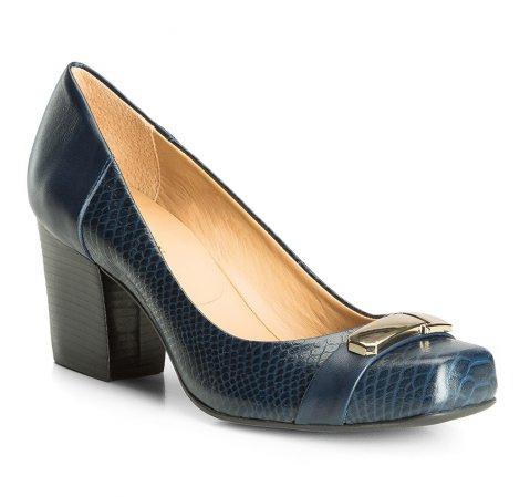 Damenschuhe, dunkelblau, 83-D-750-7-35, Bild 1