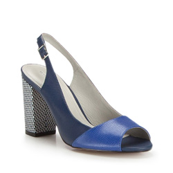 Damenschuhe, dunkelblau, 86-D-555-7-37, Bild 1
