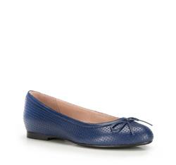 Damen Ballerina Schuhe, dunkelblau, 86-D-606-7-39, Bild 1