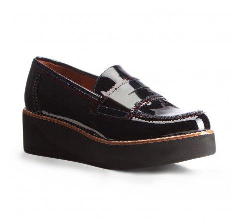 Frauen Schuhe, dunkelblau-dunkelrot, 87-D-456-7-35, Bild 1