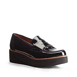 Frauen Schuhe, dunkelblau-dunkelrot, 87-D-456-7-39, Bild 1