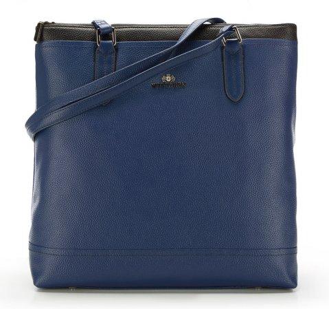 Einkaufstasche, dunkelblau, 85-4E-458-7, Bild 1