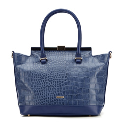 Einkaufstasche, dunkelblau, 87-4Y-764-7, Bild 1