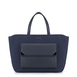 Einkaufstasche, dunkelblau, 89-4Y-550-7, Bild 1