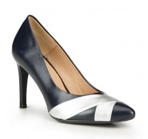Frauen Schuhe, dunkelblau, 87-D-703-7-36, Bild 1