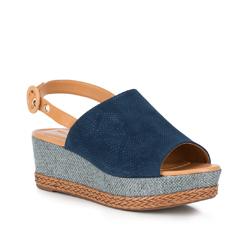 Frauen Schuhe, dunkelblau, 88-D-710-7-39, Bild 1