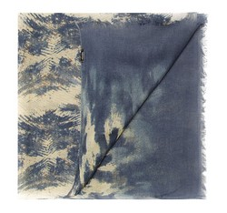 Schal, dunkelblau-gelb, 85-7D-X04-X1, Bild 1