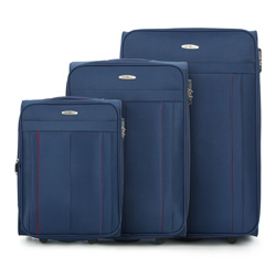 Kofferset 3-teilig, dunkelblau, V25-3S-27S-90, Bild 1