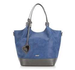 Einkaufstasche, dunkelblau-grau, 87-4Y-751-7, Bild 1